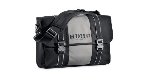 HDMC Messenger Bag, Black and Silver