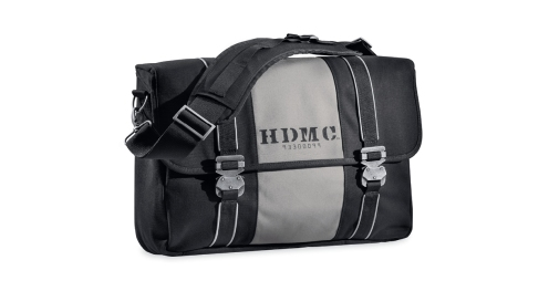 HDMC Messenger Bag, Black and Silver