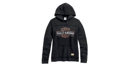 Women's Genuine Black Hoodie