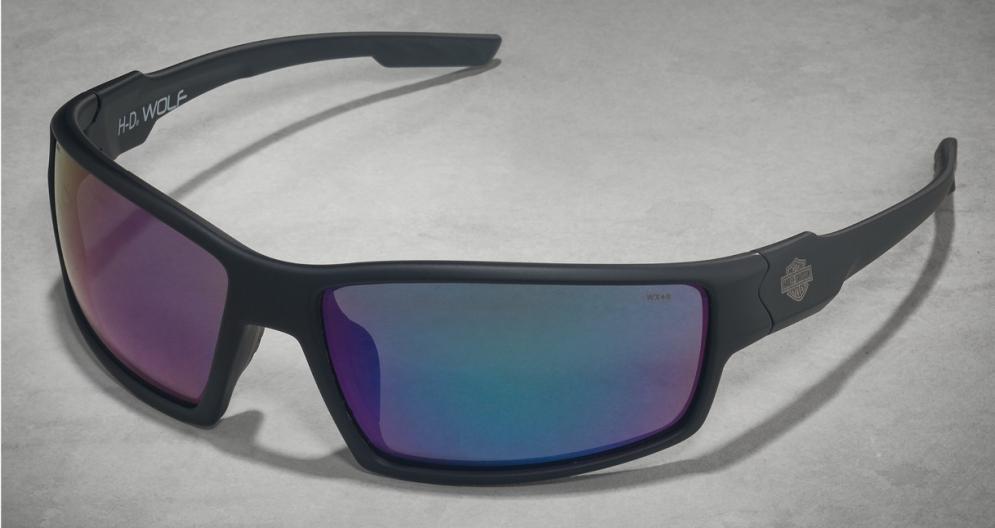 HD Wolf Green Mirror Lens/Matte Black Frame (Unisex)