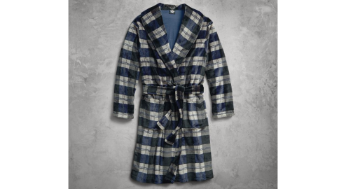 Men's Plaid Lounge Robe