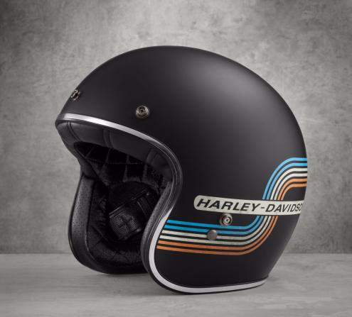 Retro Tank Stripe B01 3/4 Helmet