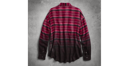 Women's Ombre Plaid Tunic(back)