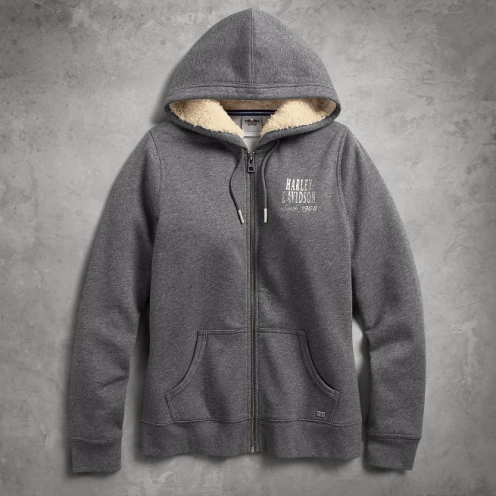 Women's Sherpa Fleece Lined Hoodie(front)