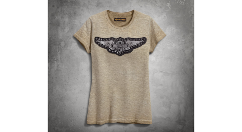 Women's Studded Winged Tee - $45
